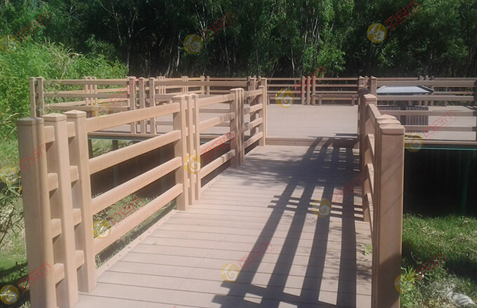 Park Engineer Wood Plastic Beach WPC Fence