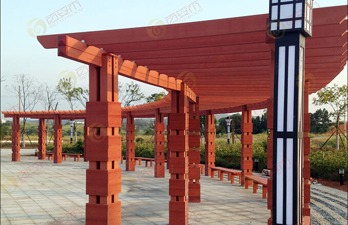 Outdoor engineered Wood Plastic Composite Fencing, Decking and Pergola