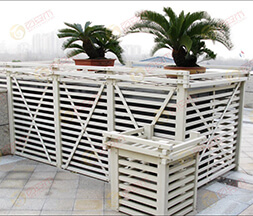 White Hotel WPC Fencing and Pergola