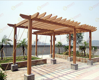 Outdoor Wood Plastic Composite WPC Pergola