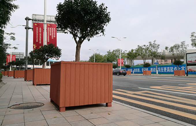 Durable Wood Plastic Composite Flower Boxs