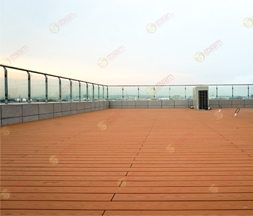 3D WPC Decking Balcony Sweden